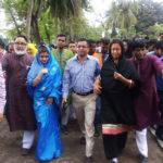 কুমিল্লায় সীমার পক্ষে গণসংযোগে নাফিসা কামাল
