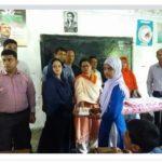 মেঘনায় চালিভাংগা সরকারি প্রাথমিক বিদ্যালয়ের শিক্ষার্থীদের মাঝে টিফিন বক্স বিতরণ