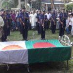 মেঘনায় মুক্তিযোদ্ধা সামাদ মোল্লাকে রাষ্ট্রীয় মর্যাদায় দাফন
