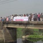 কুমিল্লা মহানগরীতে ফসলি জমি নষ্টের প্রতিবাদে মানববন্ধন
