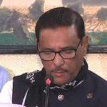 সংবাদ সম্মেলন করে খালেদা জিয়া কার্যত আদালতের বিরুদ্ধে যুদ্ধ ঘোষণা করেছেন-ওবায়দুল কাদের