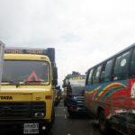 ঢাকা-চট্টগ্রাম মহাসড়কের গোমতি সেতু থেকে কাচঁপুর পর্যন্ত অচলাবস্থা,ভোগান্তি চরমে