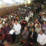 কুমিল্লা টাউনহলে সবাইকে নৌকা প্রতিক দেখালেন এমপি বাহার