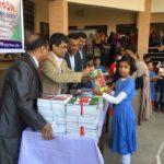 বেপজা স্কুল এন্ড কলেজে শিক্ষার্থীদের মাঝে নতুন বই বিতরণ