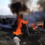 দুই ভারতীয় যুদ্ধ বিমান ভূপাতিত করার ছবি প্রকাশ করেছে পাকিস্তান