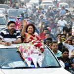 বিশাল মোটরসাইকেল বহরে কুমিল্লায় সাংসদ সীমাকে উষ্ণ সংবর্ধণা