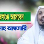 মনোহরগঞ্জে আসবেন রফিকুল্লাহ আফসারী