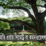 কুমিল্লা ময়নামতি ওয়ার সিমেট্রি নির্মল ছায়ায় ঘুমিয়ে ৭৩৬ জন যোদ্ধা