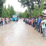 খুন ও ধর্ষণের প্রতিবাদে কুমিল্লা বিশ্ববিদ্যালয়ে মানববন্ধন