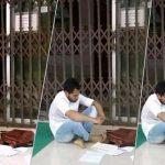 মসজিদের বারান্দায় পড়াশোনা করছেন মুশফিক
