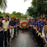 চাঁদপুর থেকে ফুলেল শুভেচ্ছায় এসপি জিহাদুল কবিরের বিদায়