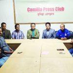 কুমিল্লায় সাংবাদিকদের সাথে জেলা পুলিশের ডি আই ওয়ানের বিদায়ী শুভেচ্ছা বিনিময়
