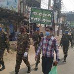 কুমিল্লাজুড়ে কঠোর অবস্থানে সেনাবাহিনী , ৪ জনকে অর্থ জরিমানা