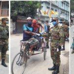 কুমিল্লায় সেনাবাহিনীর টহল ও অসহায়দের সহায়তা প্রদান অব্যাহত