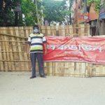 কুমিল্লা শহরে চুরি হলো লকডাউনের বেড়া