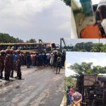 চৌদ্দগ্রামে তিশা বাস উল্টে নারী যাত্রী নিহত