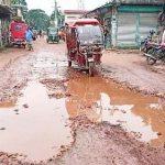 নাঙ্গলকোটে ৩১ কিলোমিটার সড়কজুড়ে খানাখন্দকে ভরা