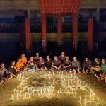 নিমসার কলেজে জাতীয় ৪ নেতা হত্যার বিচারের দাবিতে প্রদীপ প্রজ্জ্বলন