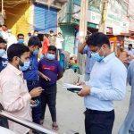 কুমিল্লা নগরীতে মাস্ক পরিধান নিশ্চিতে ভ্রাম্যমাণ আদালতের অভিযান: ১১ জনকে অর্থদন্ড