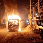 ব্রাহ্মণবাড়িয়ায় কুমিল্লা-সিলেট মহাসড়কে যাত্রীবাহী চলন্ত বাসে আগুন