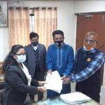 শাহরাস্তি পৌর নির্বাচন: কাউন্সিলর পদে সাংবাদিক সেন্টুর মনোনয়ন দাখিল