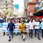 কুমিল্লা নগরীতে এমপি সীমার নেতৃত্বে হরতাল বিরোধী মিছিল অনুষ্ঠিত