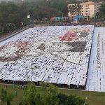 ৯৪০৮ জনের অংশগ্রহণে বিশ্বের সর্ববৃহৎ মানব লোগো প্রদর্শন