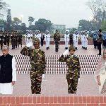 আজ মহান স্বাধীনতা দিবস: স্মৃতিসৌধে রাষ্ট্রপতি ও প্রধানমন্ত্রীর শ্রদ্ধা