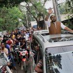 করোনার বিধিনিষেধ উপেক্ষা করে কুমিল্লা- ৫ আসনে রুমির নির্বাচনী শোডাউন