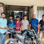 কুমিল্লায় মোটরসাইকেল চোর চক্রের ৩ সদস্য আটক