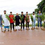 চৌদ্দগ্রাম-লাকসাম সড়কে ২৫০ বনজ চারাগাছ রোপণ