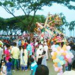 করোনার বিধিনিষেধ লঙ্ঘন করে চাঁদপুরে দর্শনার্থীদের ভীড়